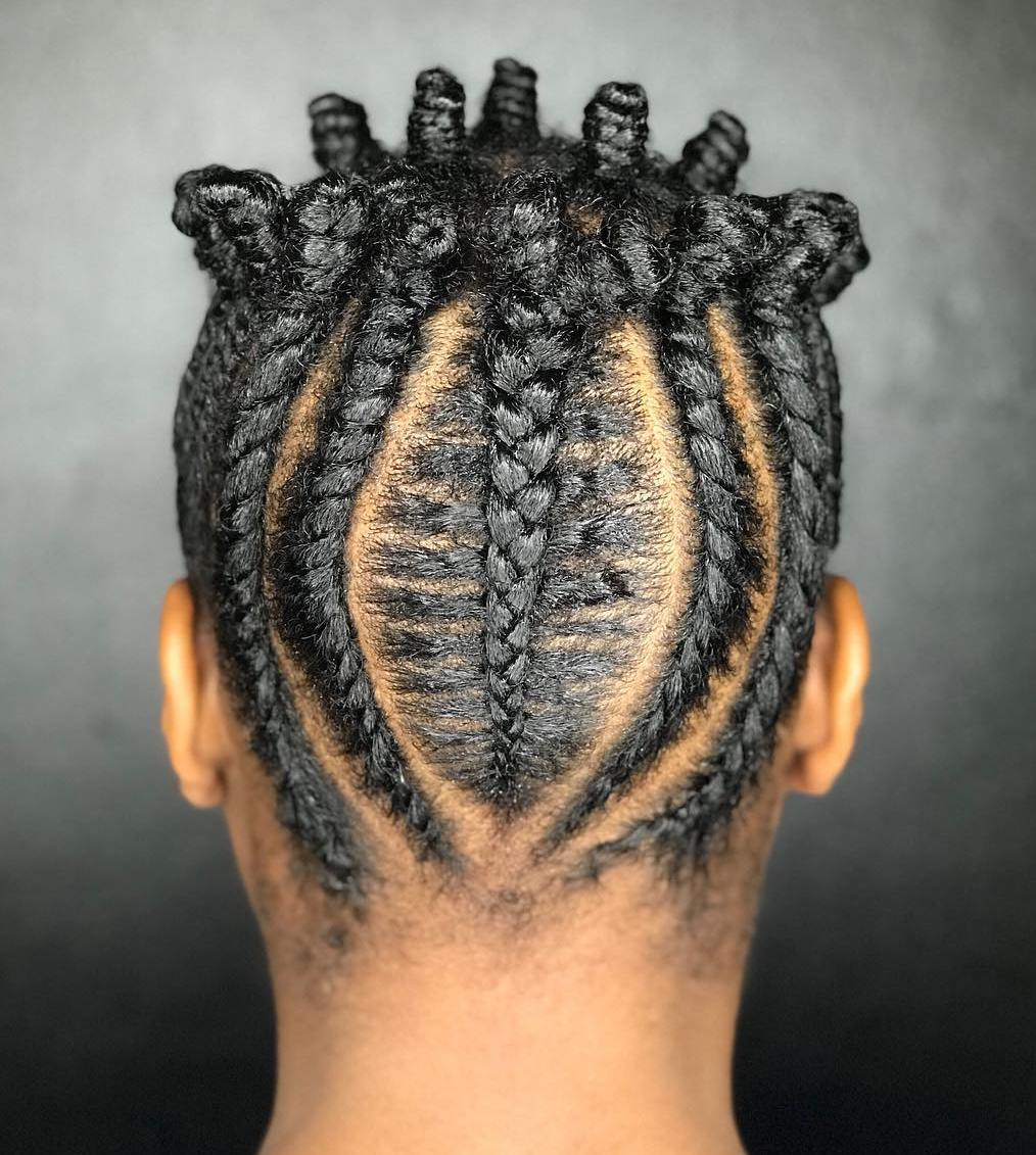 Bantu Knots Crown Updo For Natural Hair