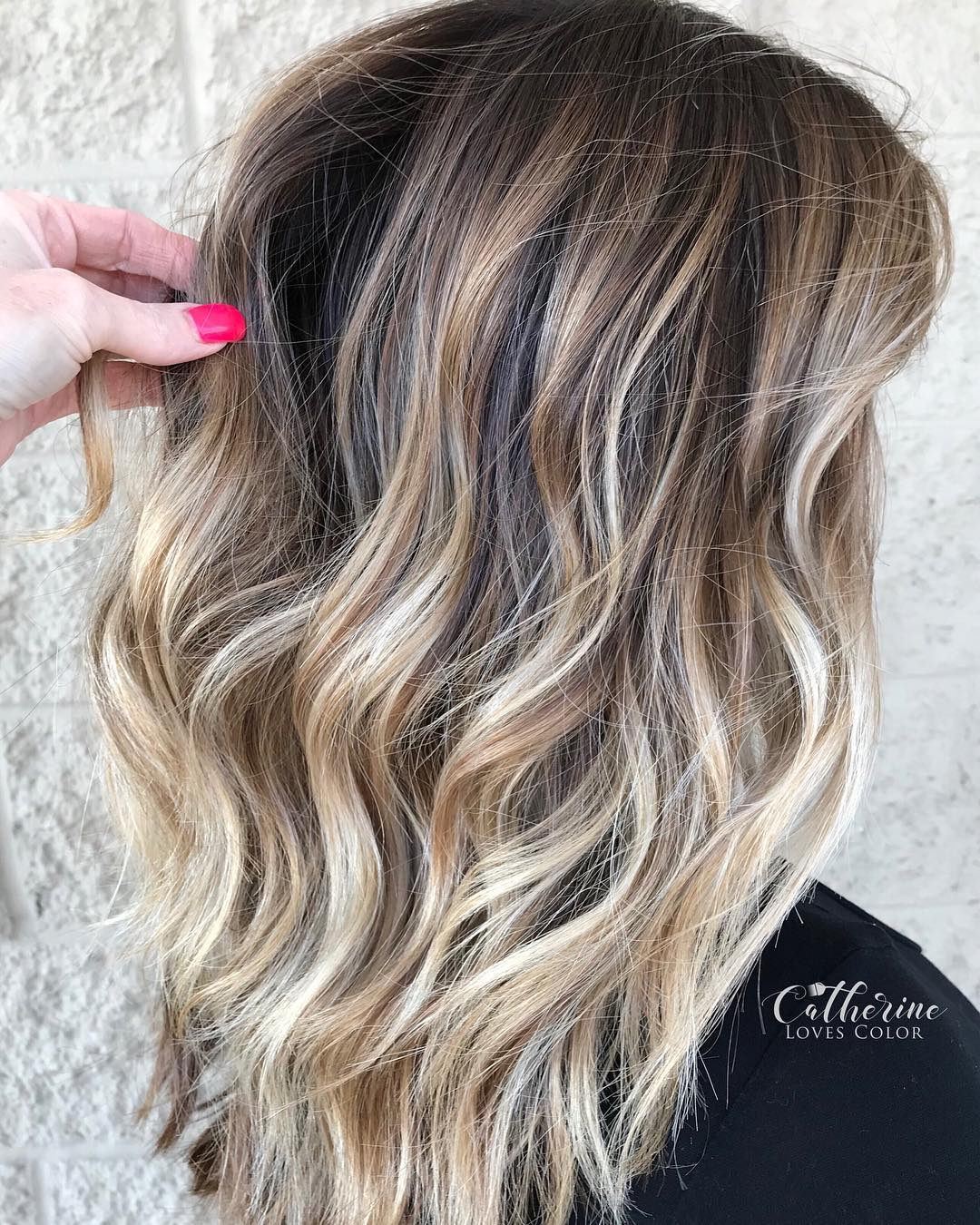 Medium Layered Bronde Balayage Hair