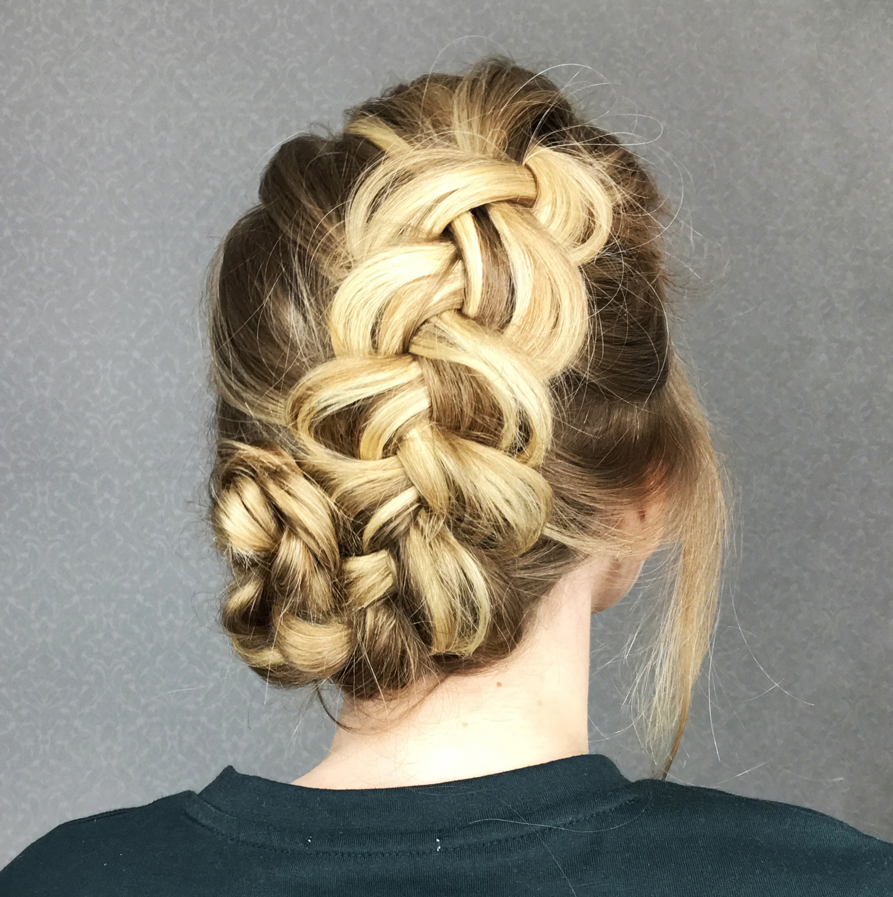 Braided Updo With A Side Bun