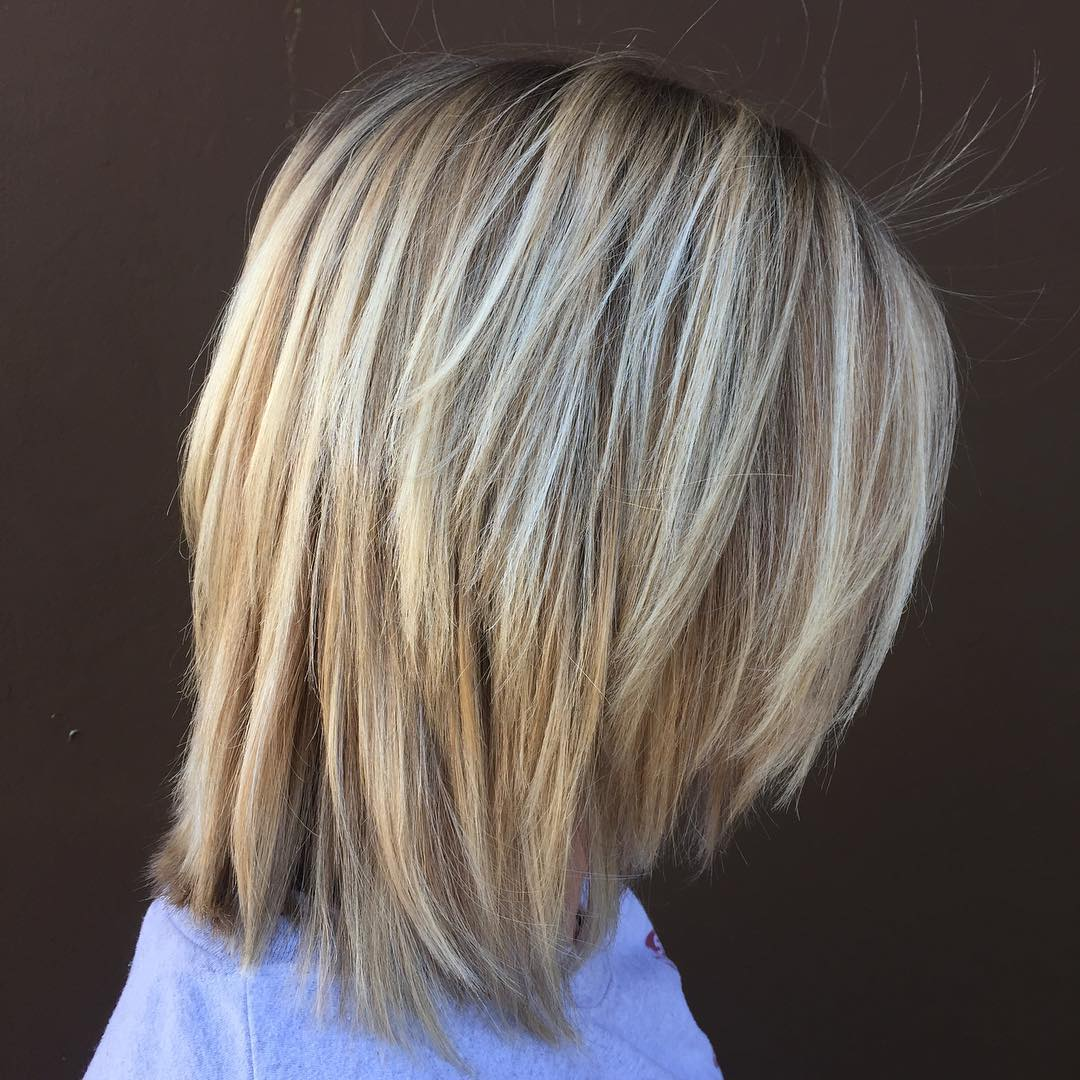 Shoulder-Length Bob With Choppy Layers